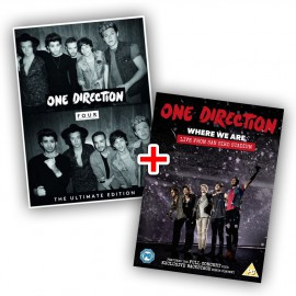 "One Direction bundle: CD Four ""The Ultimate Edition Italian Version"" + DVD ""Where We Are - Live from San Siro Stadium"""