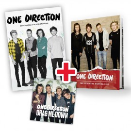 "One Direction Bundle: Calendario 2016 + Annual 2016 + CD Singolo ""Drag Me Down"""
