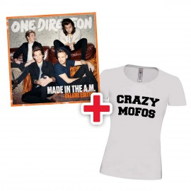 PREORDINE Bundle - One Direction Made in the A.M. album, versione DELUXE + T-Shirt Crazy Mofos