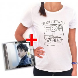 "Bundle CD RIKI ""Perdo le parole"" + T-shirt Polaroid"