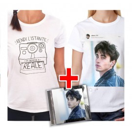 "Bundle CD RIKI ""Perdo le parole"" + T-shirt Polaroid + T-shirt Instagram"