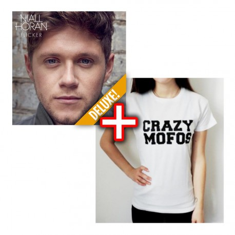 "Bundle CD Niall Horan - Flicker + Tshirt ""Crazy Mofos"""
