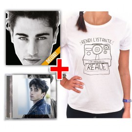 "Bundle CD RIKI ""Mania"" + EP ""Perdo le parole"" + T-shirt Polaroid in regalo"
