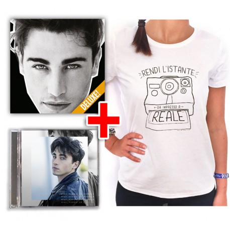"Bundle CD RIKI ""Mania"" + EP ""Perdo le parole"" + T-shirt Polaroid in regalo"