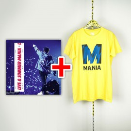 BUNDLE CD RIKI Live & Summer Mania e T-shirt gialla Mania