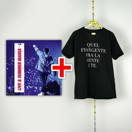 """BUNDLE CD RIKI Live & Summer Mania e T-shirt nera """"Quel Frangente Tra La Gente E Te"""""""
