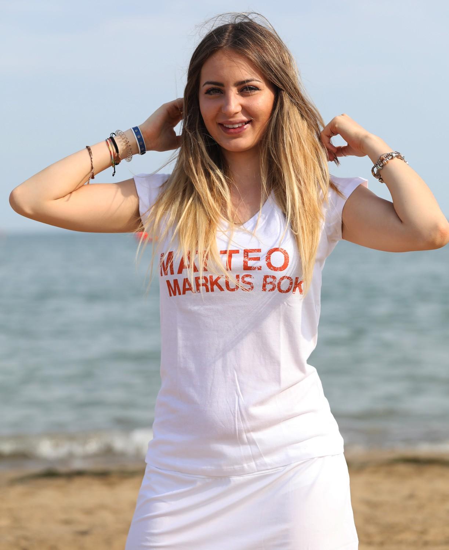 Acquista ora la t-shirt bianca ufficiale di Matteo Markus Bok 22108398c42a