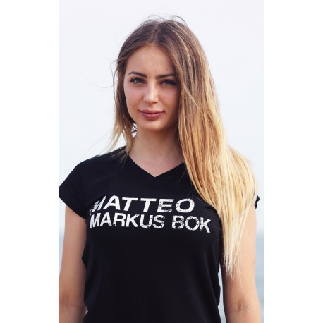 T-Shirt Nera Matteo Markus Bok - ragazza