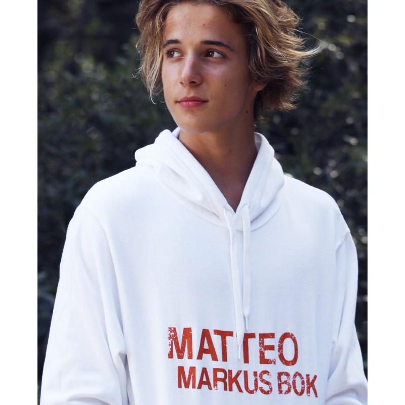 Acquista ora la felpa bianca ufficiale di Matteo Markus Bok 9807880906ce