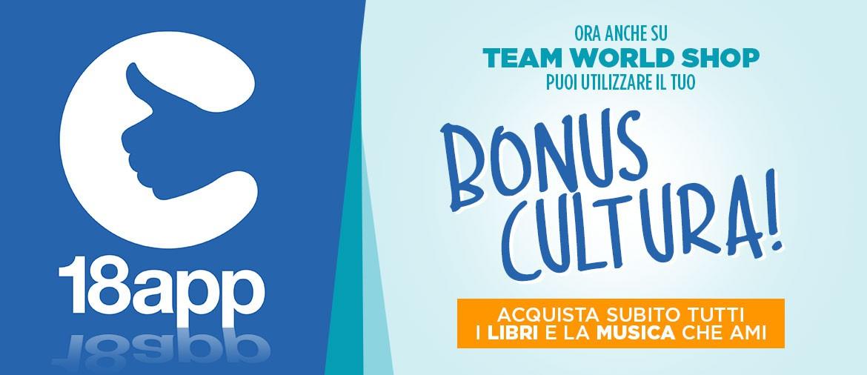 18app - Il bonus cultura arriva su Team World Shop