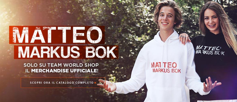 Acquista ora il merchandise ufficiale di Matteo Markus Bok